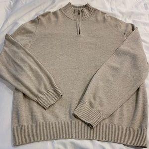 Merona Men's beige Quarter zip sweater